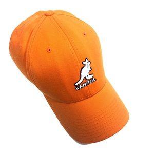Orange Kangol baseball cap